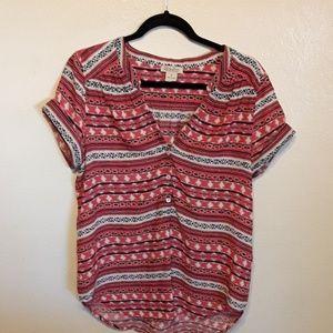 EUC RARE Lucky Brand tribal print tunic top